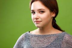 Portret van een glimlachend meisje Stock Afbeeldingen