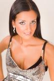 Portret van een glimlachend sensueel meisje Stock Foto's