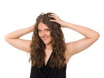 Portret van een glimlachend tienermeisje Royalty-vrije Stock Fotografie