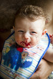 Portret van een glimlachende baby Stock Afbeelding