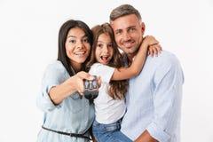 Portret van een glimlachende familie royalty-vrije stock afbeeldingen