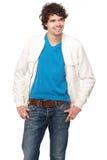 Portret van een Glimlachende Jonge Mens Royalty-vrije Stock Fotografie
