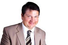 Portret van een glimlachende mens stock foto's