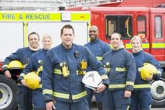 Portret van een groep brandbestrijders Stock Foto