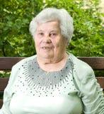 Portret van een grootmoeder. Stock Foto's
