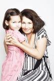 Portret van een grootmoeder met haar kleindochter royalty-vrije stock foto's
