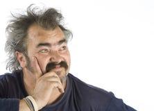Portret van een heetgebakerde mens Stock Fotografie