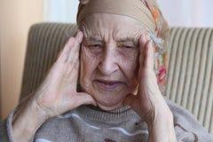 portret van een hogere vrouw Royalty-vrije Stock Foto