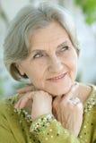 Portret van een hogere vrouw Royalty-vrije Stock Afbeeldingen