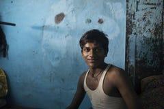 Portret van een Indische jongen in New Delhi Stock Afbeelding