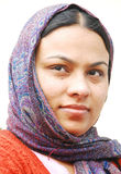 Portret van een Indische Vrouw met een wandeling Royalty-vrije Stock Afbeelding