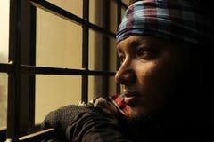 Portret van een inwoner van Bangladesh Mens Stock Foto's