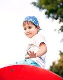 Portret van een jaar 3-4 jongen Stock Foto's