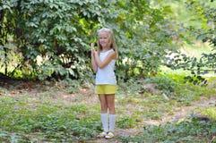 Portret van een 7 jaar oud meisje Royalty-vrije Stock Afbeelding