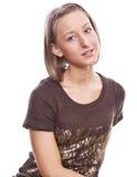 Portret van een jong meisje in een sweater Royalty-vrije Stock Fotografie