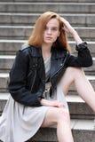 Portret van een jong mooi meisje royalty-vrije stock foto