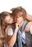 Portret van een jong mooi paar. Royalty-vrije Stock Fotografie