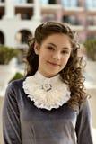 Portret van een jong ongehoorzaam ongehoorzaam damemeisje van de 19-19-20ste eeuw Stock Foto's