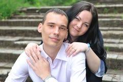 Portret van een jong paar. Royalty-vrije Stock Afbeeldingen