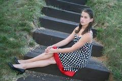 Portret van een Jong Vrouwelijk Model stock afbeelding