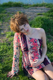 Portret van een jong zwanger meisje stock foto