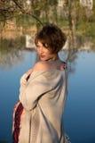 Portret van een jong zwanger meisje royalty-vrije stock foto's