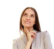 Portret van een jonge aantrekkelijke bedrijfsvrouw Royalty-vrije Stock Foto's