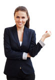 Portret van een jonge aantrekkelijke bedrijfsvrouw Stock Foto's