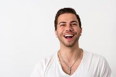 Portret van een Jonge Aantrekkelijke Sympathieke Mens Stock Afbeelding