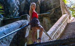Portret van een jonge blondevrouw Royalty-vrije Stock Afbeeldingen