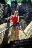 Portret van een jonge blondevrouw Stock Afbeeldingen