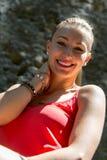 Portret van een jonge blondevrouw Royalty-vrije Stock Foto's