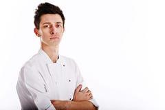 Portret van een jonge chef-kok Stock Foto