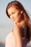 Portret van een jonge dame stock foto