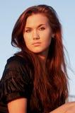 Portret van een jonge dame stock fotografie
