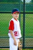 Het honkbalportret van de jeugd stock afbeelding