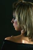 Portret van een jonge, modieuze vrouw stock afbeeldingen