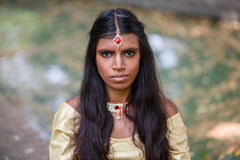 Portret van een jonge mooie traditionele Indische vrouw Royalty-vrije Stock Fotografie