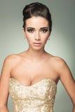 Portret van een jonge mooie vrouw Stock Fotografie