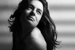 Portret van een jonge mooie vrouw royalty-vrije stock foto's