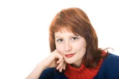 Portret van een jonge mooie vrouw Stock Afbeeldingen