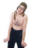 Portret van een jonge nerd stock afbeeldingen