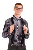 Portret van een jonge nerd Royalty-vrije Stock Fotografie