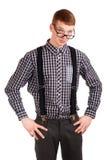 Portret van een jonge nerd Royalty-vrije Stock Foto
