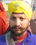 Portret van een jonge Sikh Stock Foto's