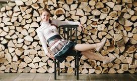 Portret van een jonge vrouw Stock Afbeelding