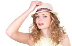 Portret van een jonge vrouw stock foto