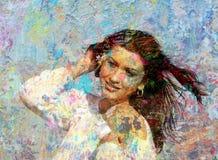 Portret van een jonge vrouw Royalty-vrije Stock Afbeelding