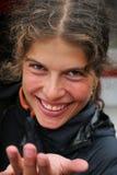 Portret van een jonge vrouw Stock Foto's