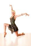Portret van een jonge vrouw in dans Royalty-vrije Stock Foto